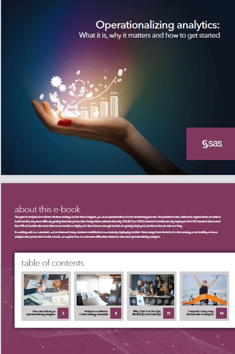 Operationalizing Analytics -TechProspect Operationalizing Analytics -TechProspect