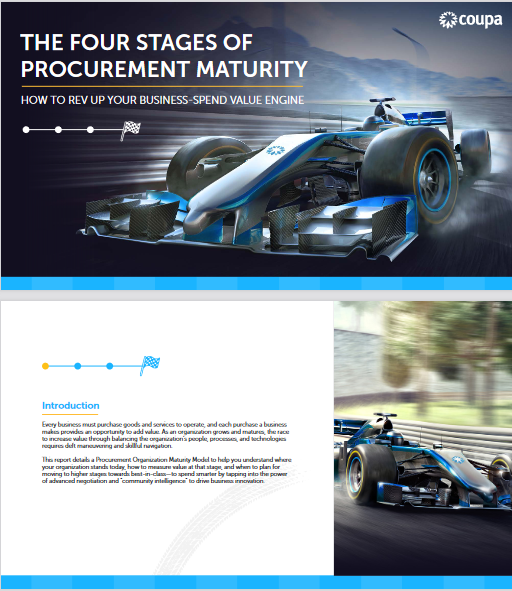 The Four Stages of Procurement Maturity -TechProspect The Four Stages of Procurement Maturity -TechProspect