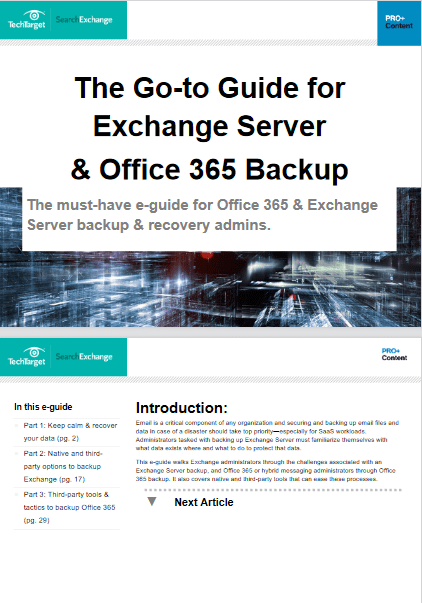 The Go-to Guide for Exchange Server & Office 365 Backup -TechProspect The Go-to Guide for Exchange Server & Office 365 Backup -TechProspect