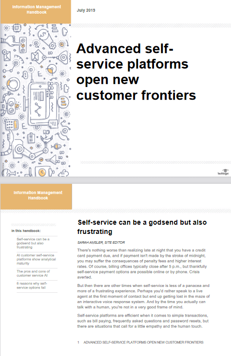 Advanced Self-service Platforms Open New Customer Frontiers -TechProspect Advanced Self-service Platforms Open New Customer Frontiers -TechProspect