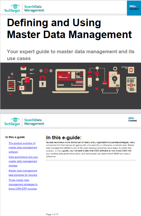 Defining and Using Master Data Management -TechProspect Defining and Using Master Data Management -TechProspect