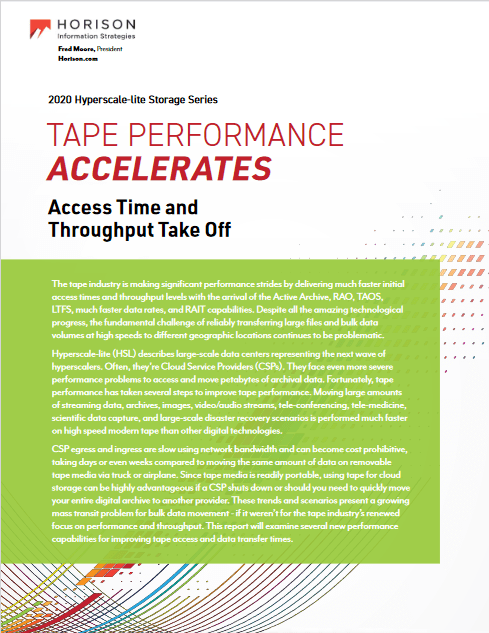 Tape Performance Accelerates Access Time and Throughput Take Off -TechProspect