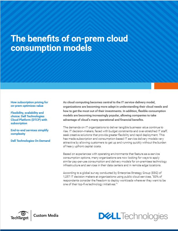 The Benefits of On-prem Cloud Consumption Models -TechProspect The Benefits of On-prem Cloud Consumption Models -TechProspect