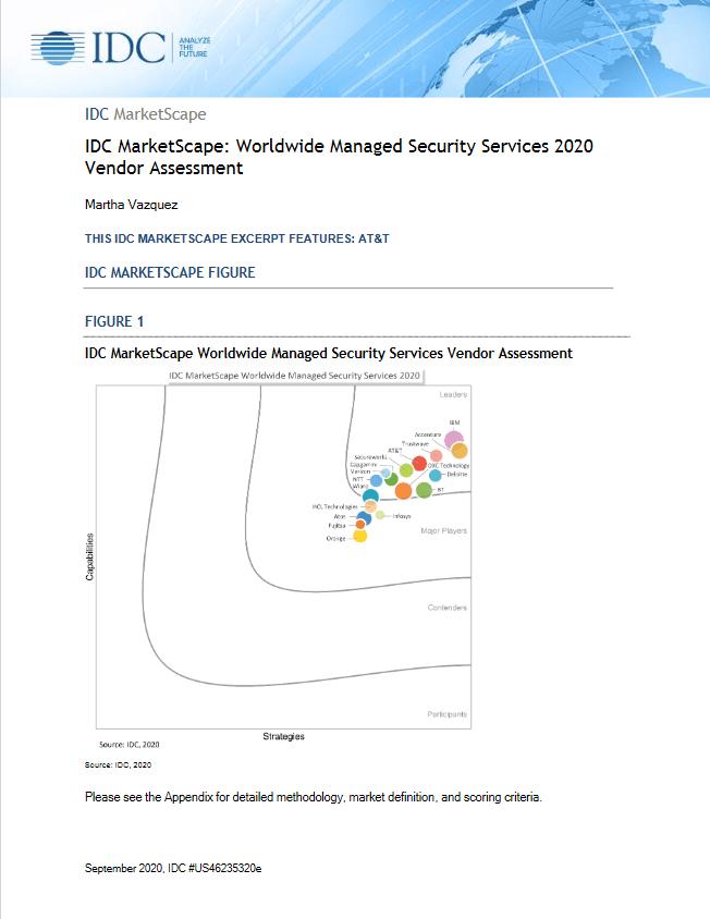 IDC MarketScape: Worldwide Managed Security Services 2020 Vendor Assessment -TechProspect IDC MarketScape: Worldwide Managed Security Services 2020 Vendor Assessment -TechProspect