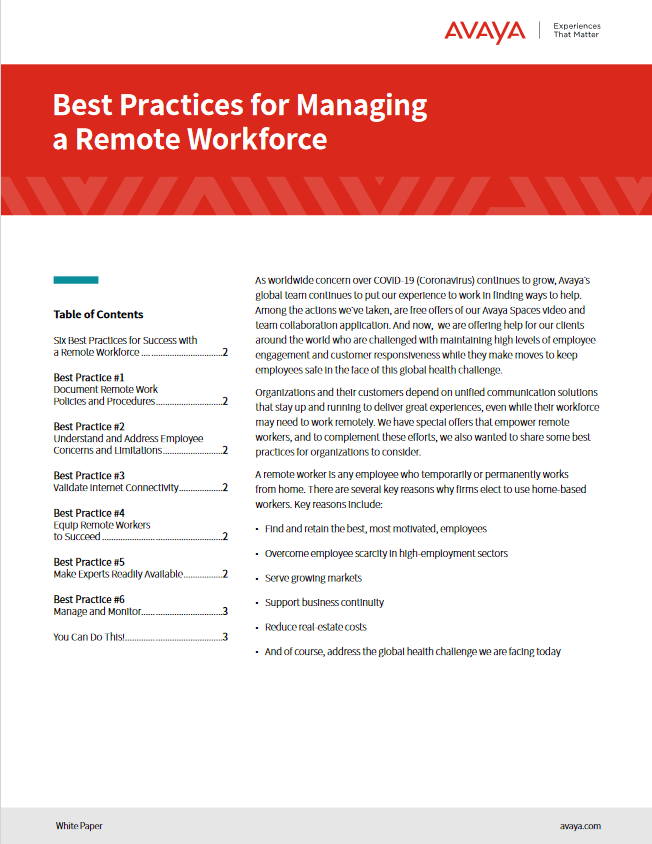 Best Practices for Managing a Remote Workforce -TechProspect Best Practices for Managing a Remote Workforce -TechProspect
