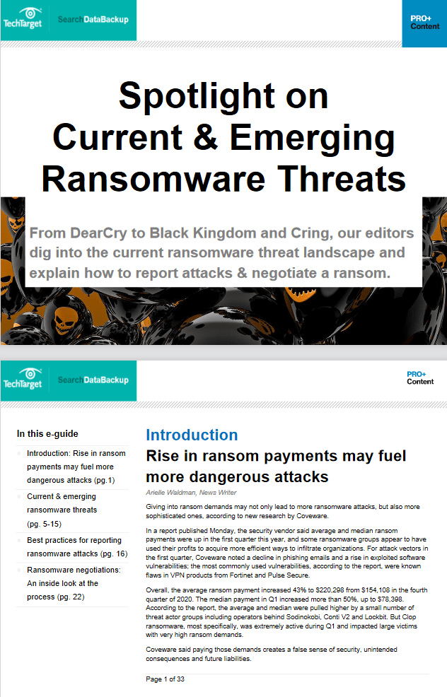 Spotlight on Current and Emerging Ransomware Threats -TechProspect Spotlight on Current and Emerging Ransomware Threats -TechProspect