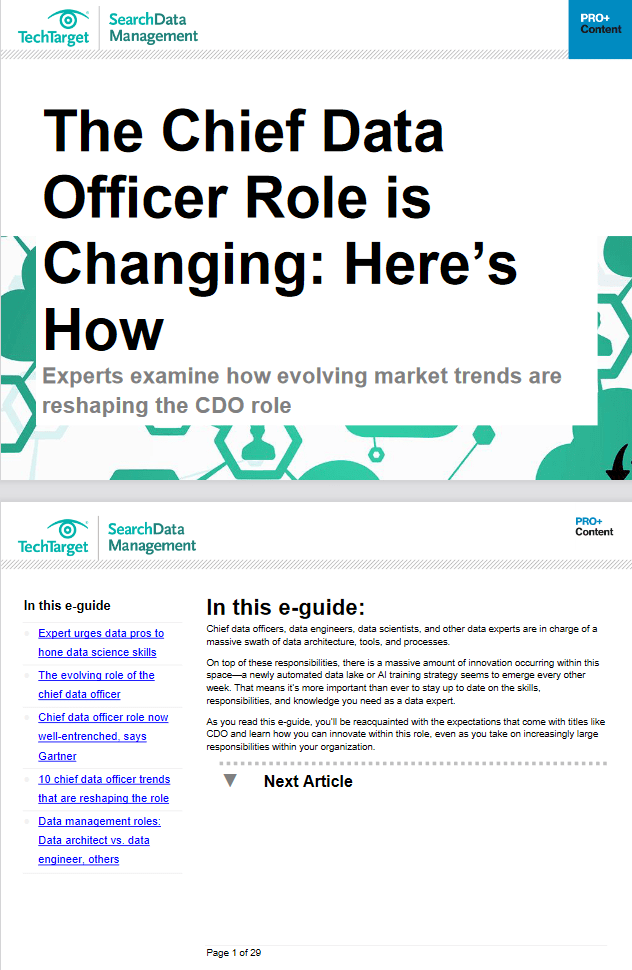 The Chief Data Officer Role is Changing: Here's How -TechProspect The Chief Data Officer Role is Changing: Here's How -TechProspect