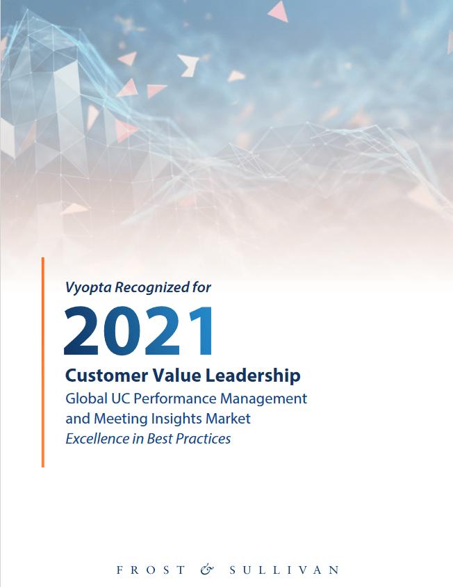 Vyopta Recognized for 2021 Customer Value Leadership -TechProspect Vyopta Recognized for 2021 Customer Value Leadership -TechProspect