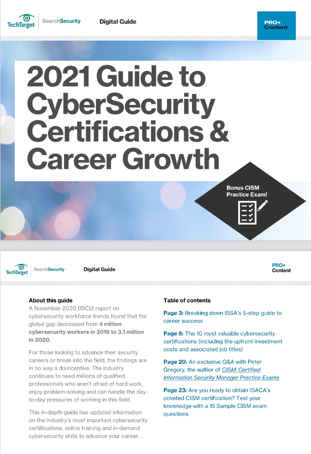 2021 Guide to CyberSecurity Certifications and Career Growth -TechProspect 2021 Guide to CyberSecurity Certifications and Career Growth -TechProspect