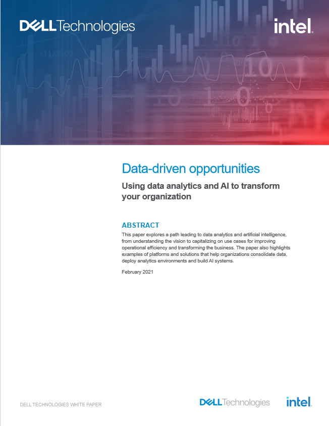 Data-driven Opportunities : Using Data Analytics and AI to Transform Your Organization -TechProspect Data-driven Opportunities : Using Data Analytics and AI to Transform Your Organization -TechProspect