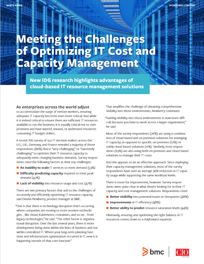 Meeting the Challenges of Optimizing IT Cost and Capacity Management -TechProspect Meeting the Challenges of Optimizing IT Cost and Capacity Management -TechProspect